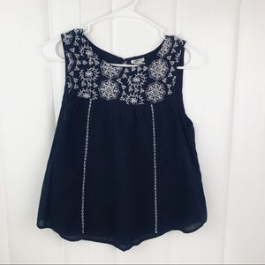 Forever21 embroidered tank top